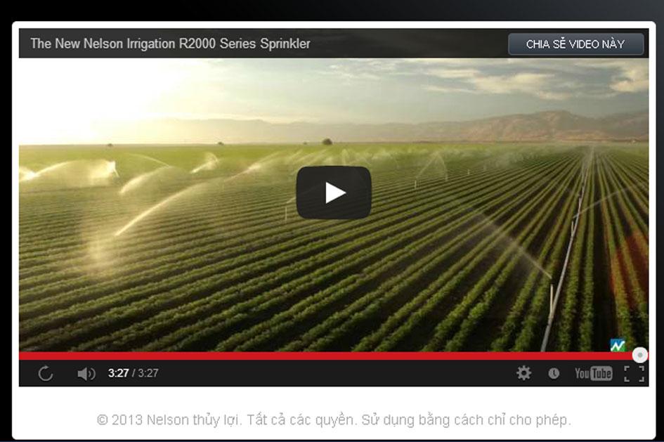 Nelson R2000WF tưới nước tưới cho cây trồng hàng